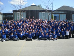Pupils at St Martin De Porres Catholic School, Luton, Giver It Up for CAFOD.