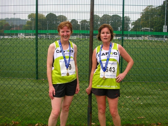 Marie and Ann sporting their medals
