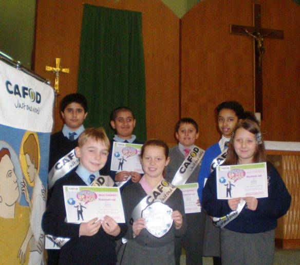 "Pupils from Slough Catholic Primary Schools ""Speak Up for CAFOD"""