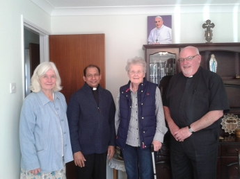 Rosemary King, Fr Benny, Sara Q & Deacon Mick - Jun15