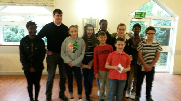 Confirmandi learn about CAFOD's work