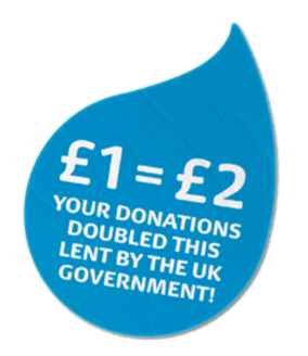 Your donations doubled this Lent by the UK Government!