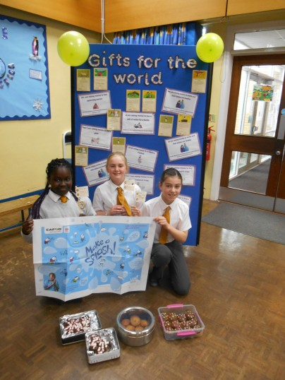 Three Pupils from St John Rigby determined to 'make a splash' with their bake sale.