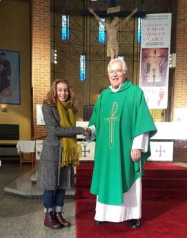 Fr Kieran with Isabelle