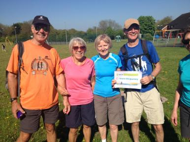 Fantastic four complete their 20mile walk - Share the Journey
